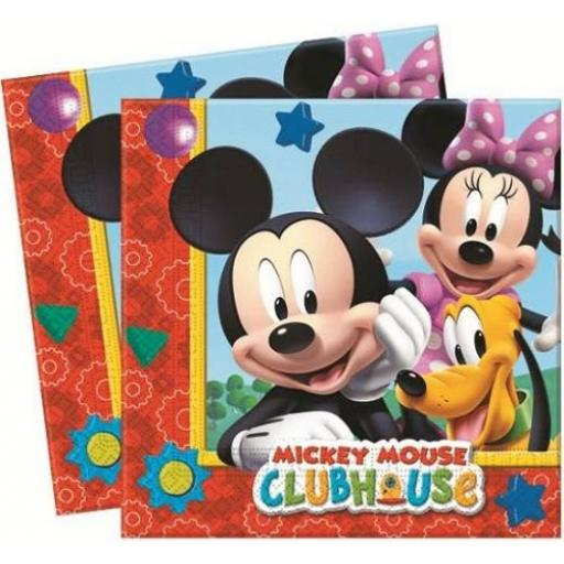 Mickey Mouse Clubhouse Paper Napkins 2ply 20ct