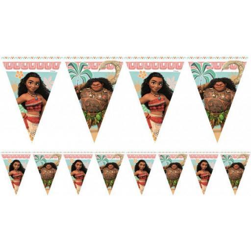 Moana Triangle Flag Banner 2.3m Plastic