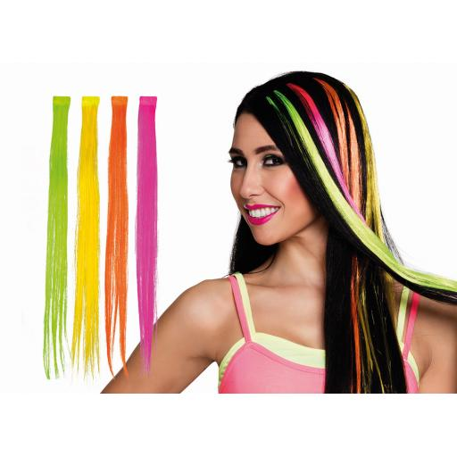 1 Strip Hair Extension Neon Yellow Colour