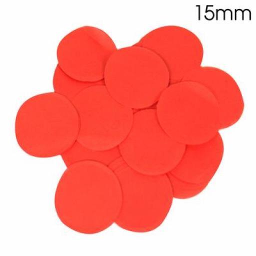 Red Confetti 14g 15mm Tissue Paper Bio-degradable, Flame retardant