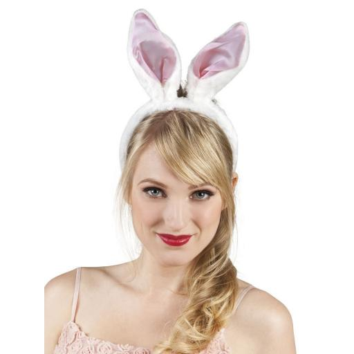 Pink Bunny Rabbit Ears Headband