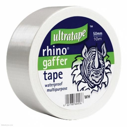 Gaffer Ultra Tape 10m x 50mm White