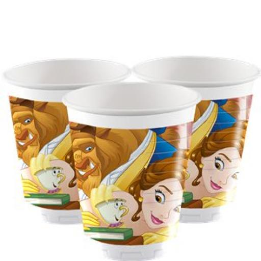 Beauty & The Beast Disney Princess Plastic Party Cups 200ml 8ct