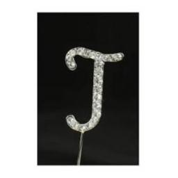 Diamante Letter J Cake Topper Decoration