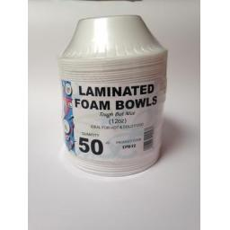 50 Laminated Foam Bowls 12oz