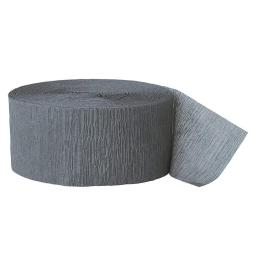 Crepe Paper Grey Streamer 81 ft