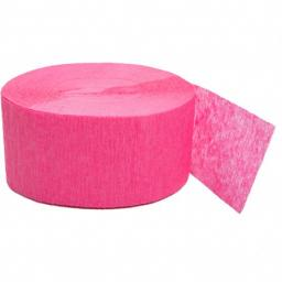 Crepe Paper Bright Pink Streamer 81 ft