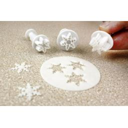PME Mini Snowflake Plunger Cutters Set of 3