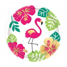 Aloha Paper Party Plates 18cm 12pcs