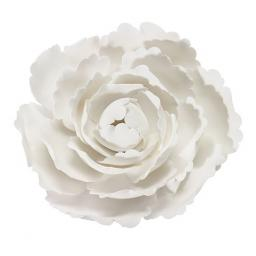4'' Hard Sugar Decoration White Peony