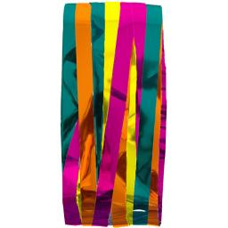 Multi Coloured Shimmer Foil Door Curtain 92cm x 244cm