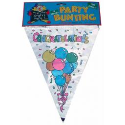 Congratulations Foil Bunting Appriox 12ft 9 Penants