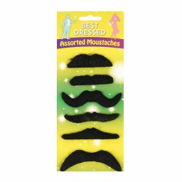 Moustaches Assorted pack of 6