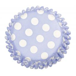 China Blue Spot Printed Baking Cases 54pcs