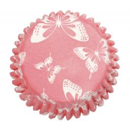 Blush Butterfly Printed Baking Cases 54pcs