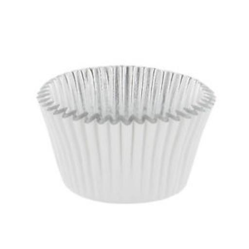 White Foil Lined Baking Cases 30pcs