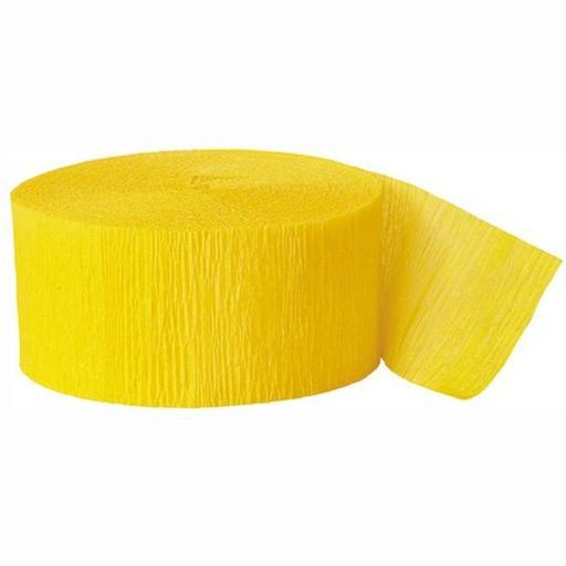 Crepe Streamer 81 ft Hot Yellow