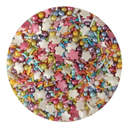 Purple Cupcakes Edible Confetti Rainbow Mix - 100g