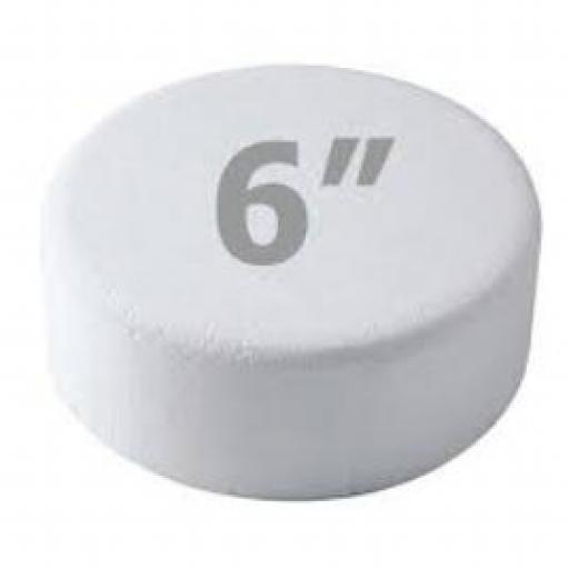 """6x3"""" Round Cake Dummy - Rounded Edge"""