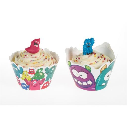 Monsters Cupcake Wraps