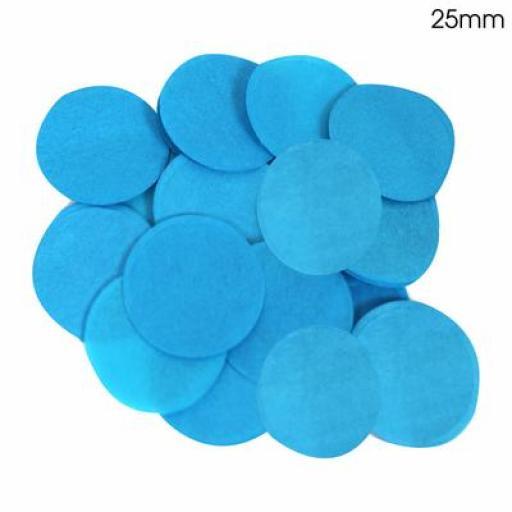 Tissue Paper Confetti Flame Retardant Round 25mm x 100g Turquoise