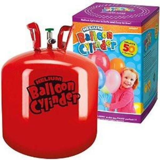 Disposable Helium Canister Fills 50pcs of 9 inch latex balloons