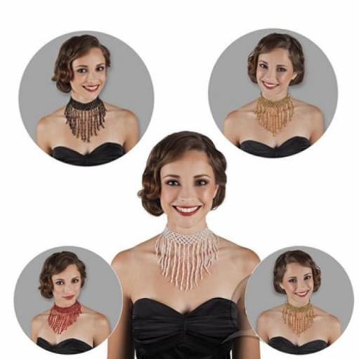 Hollywood Flapper Choker x 1 pc