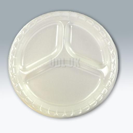 "3 Compartment Foam Plates 10""-50pk"