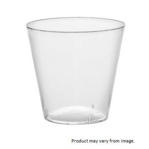 50 Clear Strong Plastic Sample/Shot Glasses 8cl