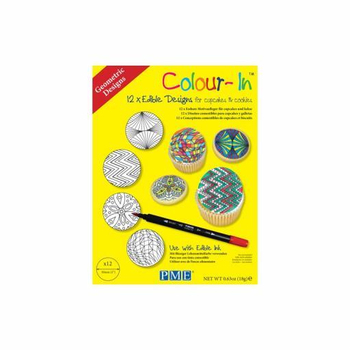 """Coloring Sheet """"Geometric""""- 12PCS"""