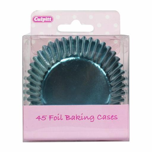 Ice Blue Foil Baking Cases