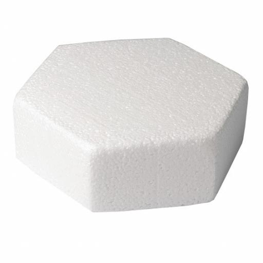 "8x3"" Hexagon Shape Cake Dummy - Rounded Edge"