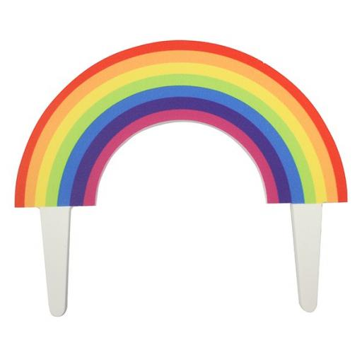 Gumpaste Rainbow Cake Topper
