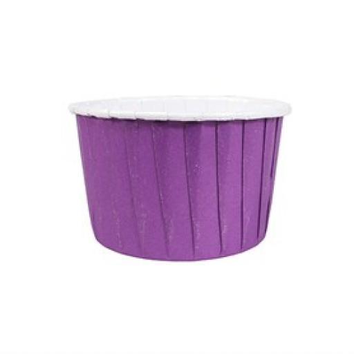 24 Coloured Purple Baking Cups 24pcs