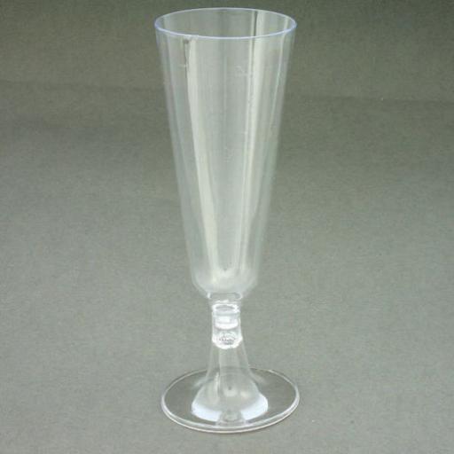 8 Disp. Plastic Champagne Flutes Glasses