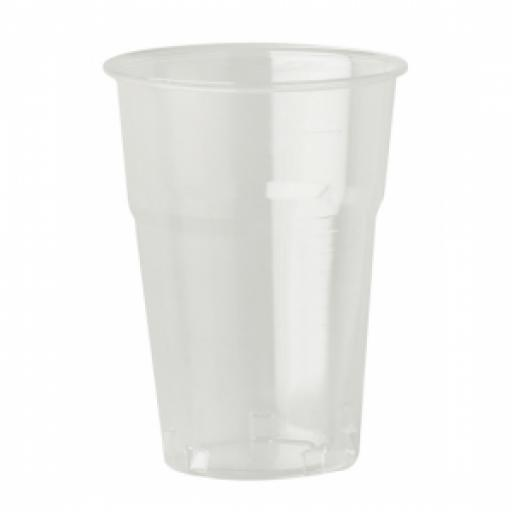 Clear Plastic Beer Tumblers 1 pint pack of 50