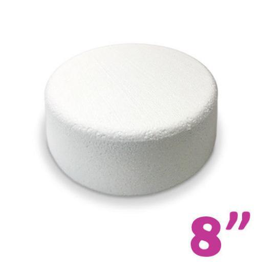 """8x3"""" Round Cake Dummy - Rounded Edge"""