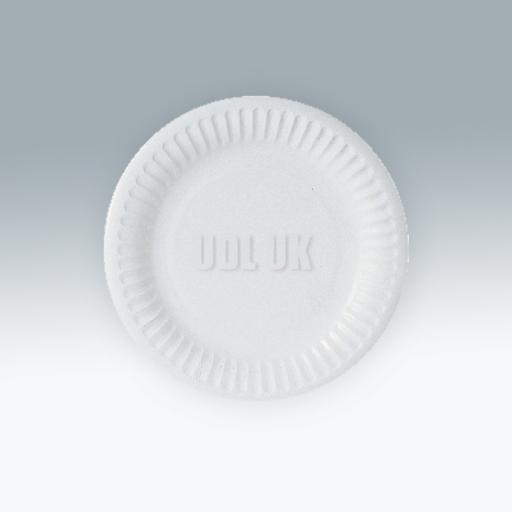 """White Paper Plates 7""""-100/pkg"""
