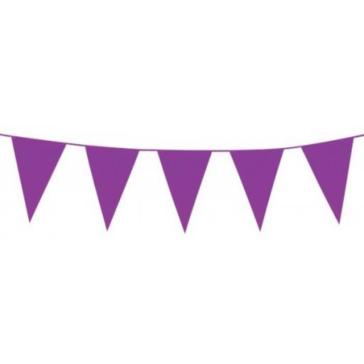 10m Polyethylene Giant Bunting - Purple