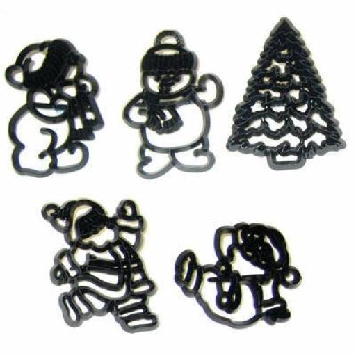 Santa & Snowman Cutter Set