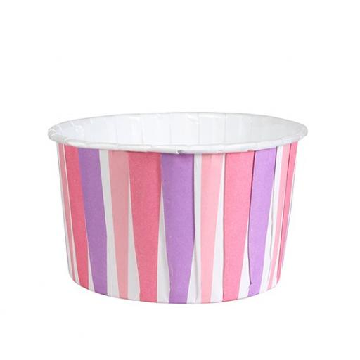 Pink Stripe Baking Cups 24/pck