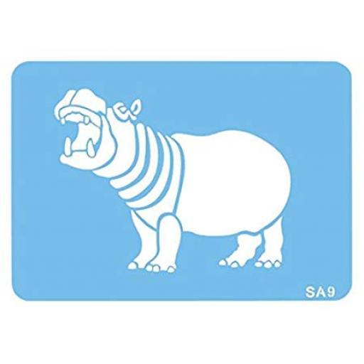 Hippo Full Body Stencil