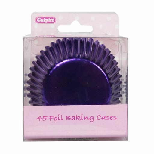 Purple Foil Baking Cases