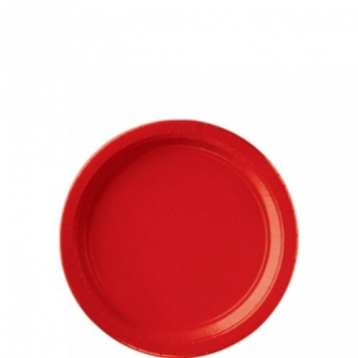 8 Apple Red Paper Plates 7 inch