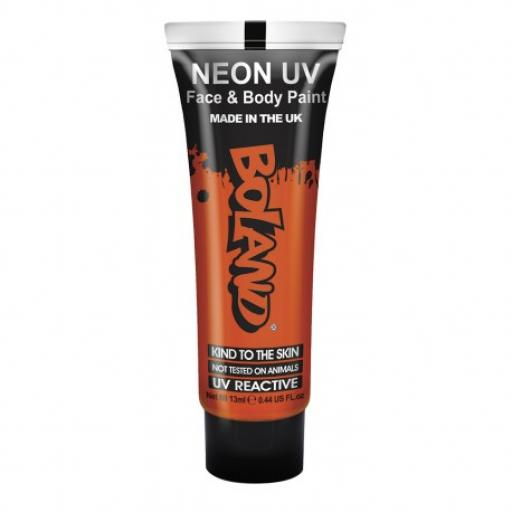Neon UV Face & Body Paint Red 13ml