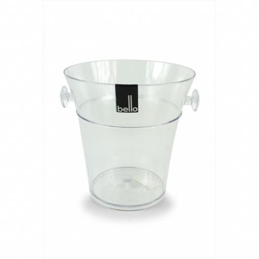 """Bello"" Clear Ice Bucket"