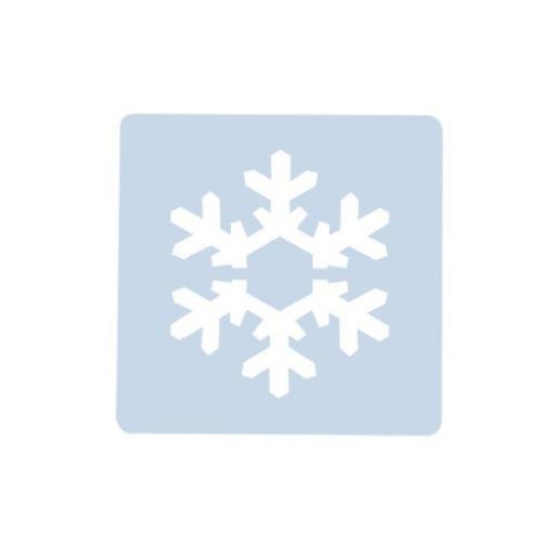 Small Snowflake Stencil