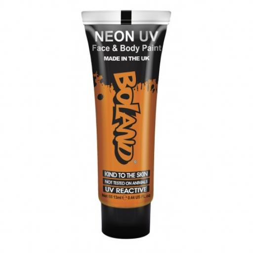 Neon UV Face & Body Paint Orange 13ml