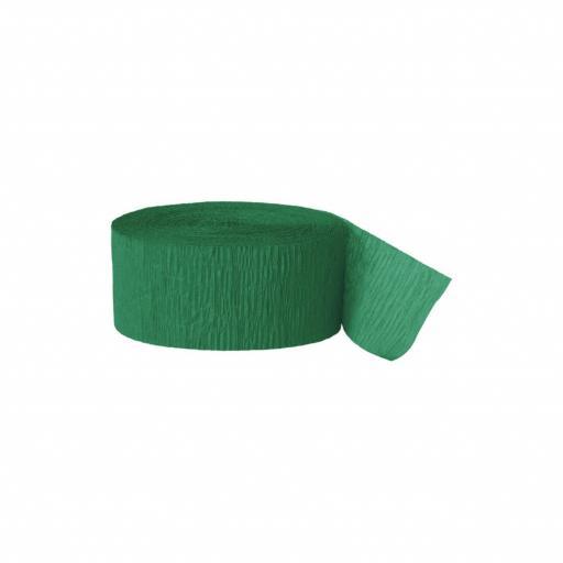Crepe Streamer 81 ft Emerald Green