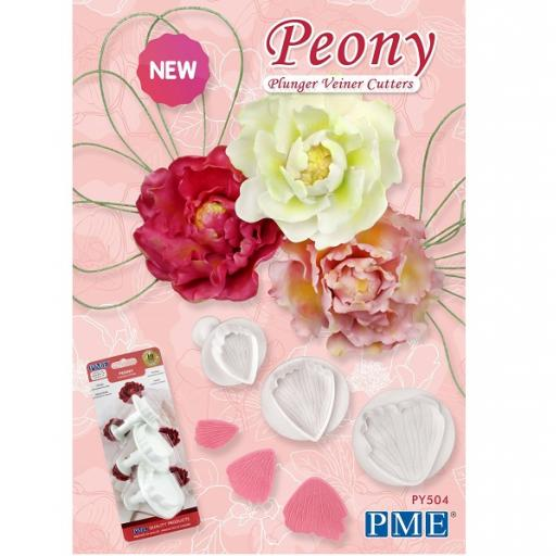 PEONY Flower Plunger Cutters Cake